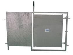 Täckt Grind med dörr 100x152cm