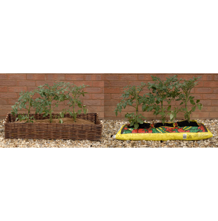 Skydd för planteringsjordspåse
