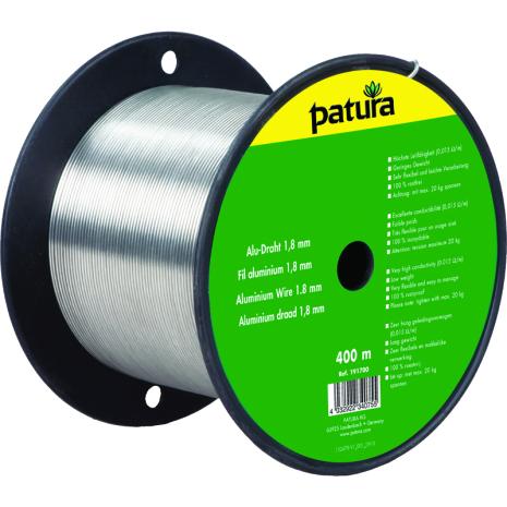 Aluminiumtråd 2,0 mm 400 meter 0,010 Ohm/m