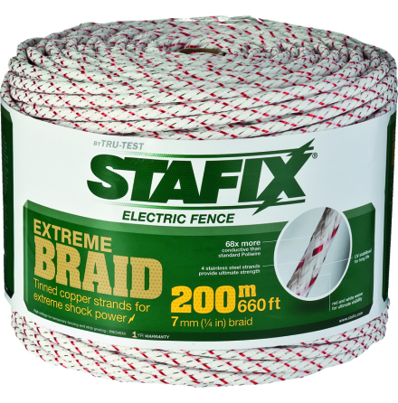 Elrep Stafix Extreme Braid 7 mm 200 Meter. 0,10 Ohm/m