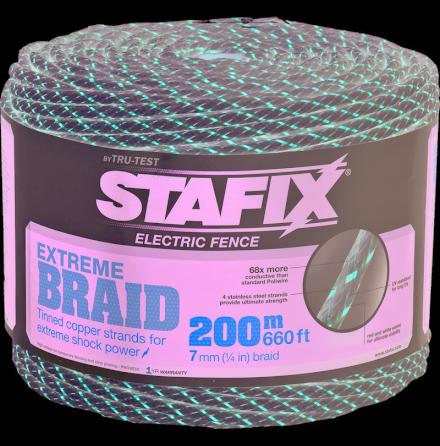 Elrep Stafix Extreme Braid 7 mm 200 Meter. 0,10 Ohm/m