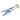 Handsax Dubbelbåge Black-Blue 29 cm Bladlängd 14,5 cm