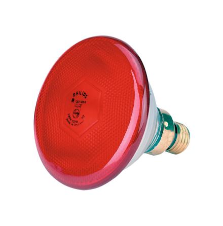 Värmelampa Philips IR/PAR Röd (175 Watt)