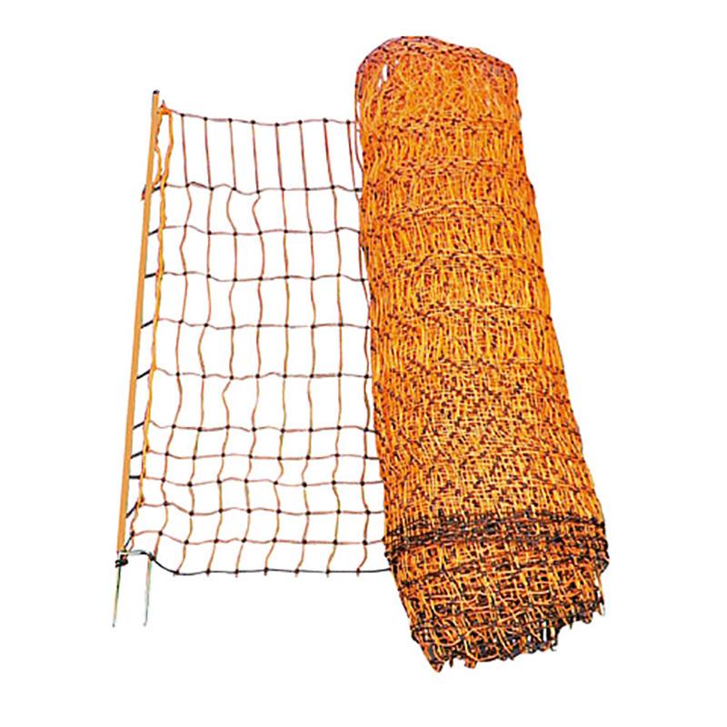 Elnät Lamm/Höns Dubbelspets 112 cm Orange