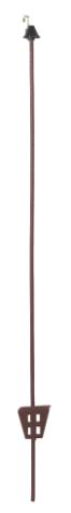 Fjäderstålstolpe Oval 106 cm 30-pack