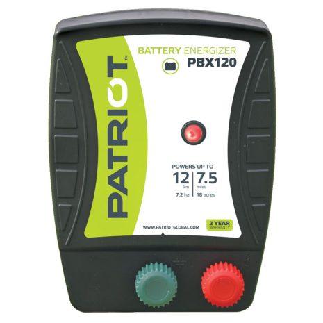 Elstängselaggregat Patriot PBX 120 - 12V Batteri