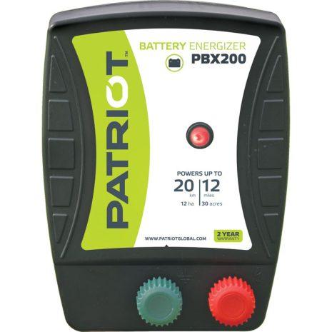 Elstängselaggregat Patriot PBX 200 - 12V Batteri