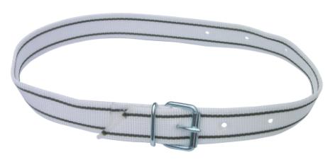 Transponderhalsrem - Vit med livremsspänne 120 cm