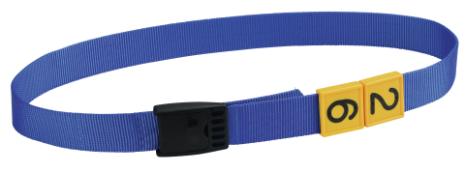 Transponderhalsrem - Blå med plastknäppe 90 cm