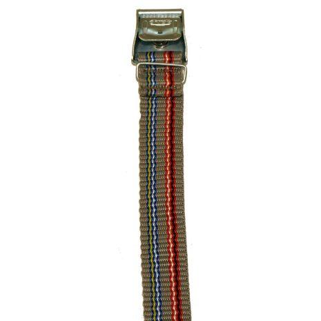 Rem 120 cm Grå med ränder Knäppe 1