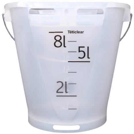 Kalvbar 8 liter Vit/Transparent Teticlear - Premium