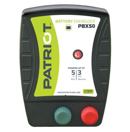 Elstängselaggregat Patriot PBX 50 - 12V Batteri