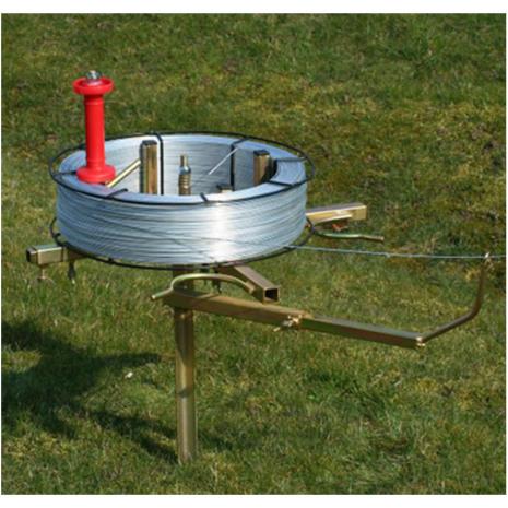 Vinda för järntråd / HT-Tråd med broms och trådförare