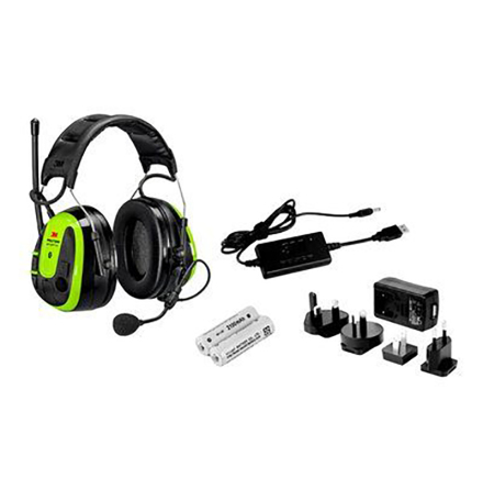 Hörselskydd med hjässbygel Peltor WS Alert XPI 2 x blåtand, radio, medhörning inkl batteri + laddare