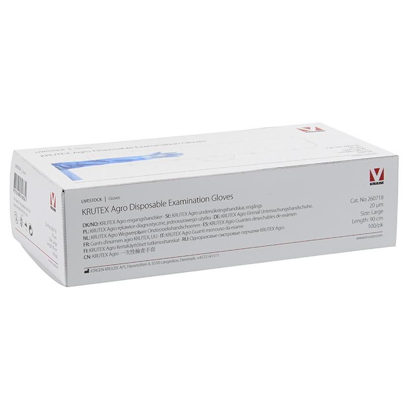 Undersökningshandske Krutex Agro Blå 100-pack