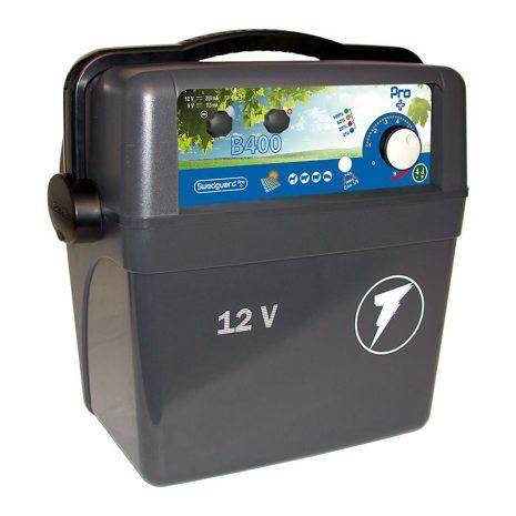 Elstängselaggregat Swedguard Pro + B400 - 12 Volt Batteri *