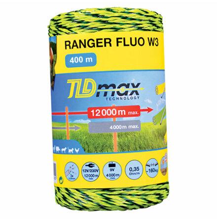 Eltråd Horizont Ranger FLUO W3 400 Meter 0,35 Ohm/m