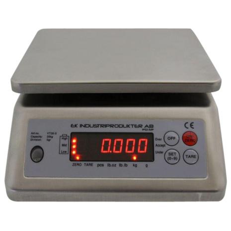 Bänkvåg Vattentät Ek Industriprodukter 30 kg *