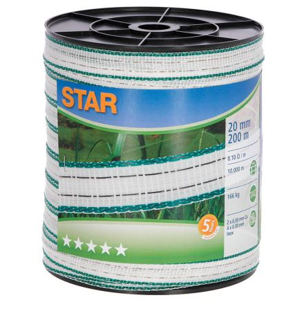 Elband Star 20 mm 200 Meter. 0,10 Ohm/m