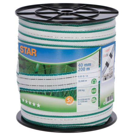 Elband Star 40 mm 200 Meter. 0,05 Ohm/m