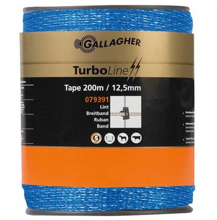 Elband 12,5 mm Gallagher Turboline Blå 200 meter. 0,09 Ohm/m