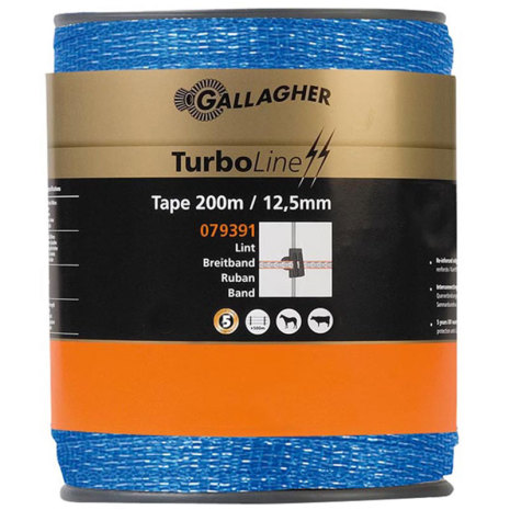 Elband Gallagher Turboline 12,5 mm Blå 200 meter. 0,09 Ohm/m