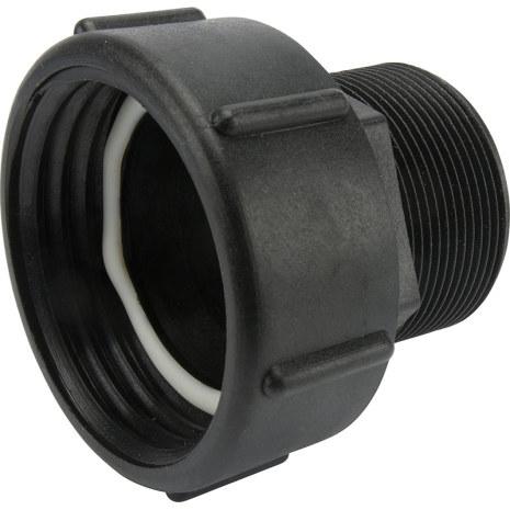 """IBC-Adapter 75 x 6 (Hona). Rörgänga 2"""" (R50) * Utvändig gänga (Hane)"""