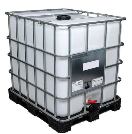 IBC-Tank 1000 Liter UN-godkänd, DN50, PE-pall (Fabriksny)