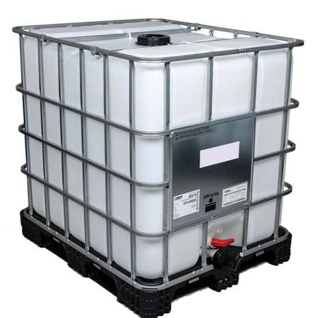 IBC-Tank 1000 Liter UN-godkänd, DN50, PE-pall (Fabriksny) *