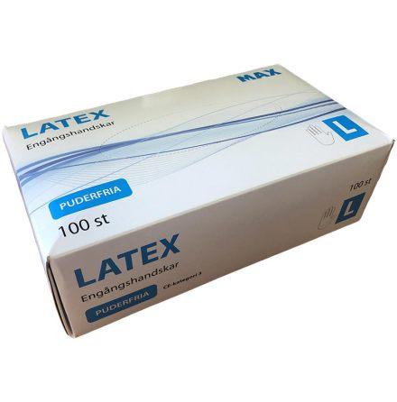 Latexhandske Max Puderfri 100-pack (Flera Storlekar XS-XL)