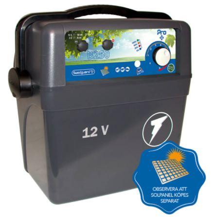 Elstängselaggregat Swedguard Pro + B250 - 12 Volt Batteri *