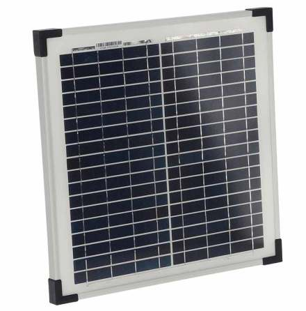 Solpanel 15 Watt 12 Volt med batteriklämmor