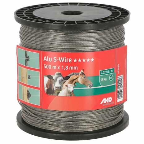 Aluminium Stängselvajer 1,8 mm 500 Meter. 0,027 Ohm/m