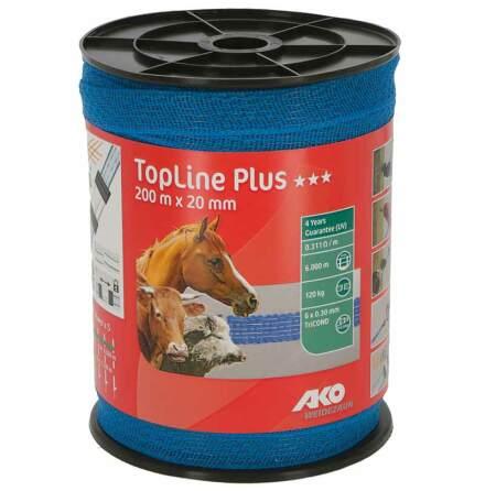 Elband 20 mm Ako TopLine Plus Blå 200 Meter. 0,311 Ohm/m