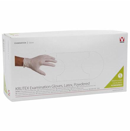 Latexhandske KRUTEX us-handske puder 100-pack (Flera storlekar)