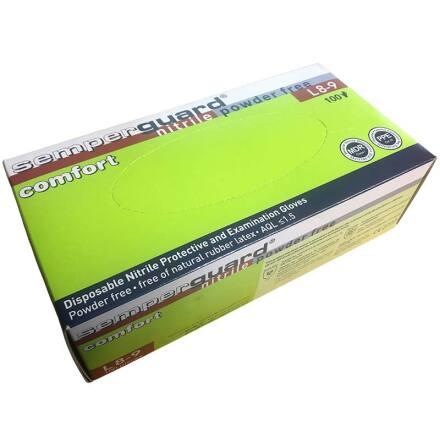 Nitrilhandske Semperguard Comfort Puderfri 100-pack