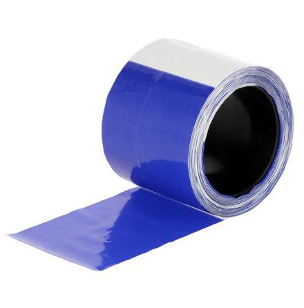Avskräckningsband Blå-Vit 80 mm x 100 Meter