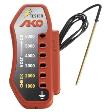 Stängseltestare AKO 6 steg 1000 - 6000 Volt