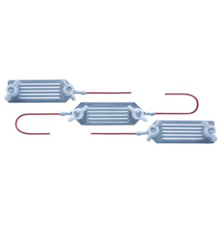 Förbindningskabel med 3 st kontaktbleck för elband