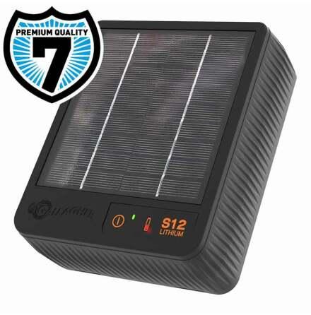 Elstängselaggregat Gallagher S12* inkl Litiumbatteri och solpanel
